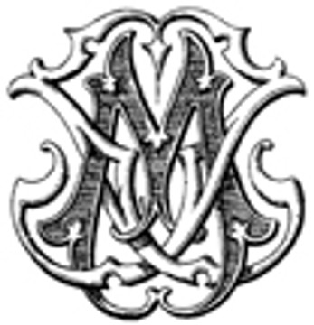 JM MJ VICTORIAN MONOGRAMS DESIGN 1