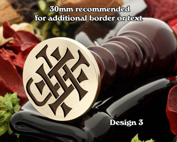 Victorian Monogram HJ JD Wax Seal D3