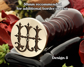 Victorian Monogram HJ JD Wax Seal D5