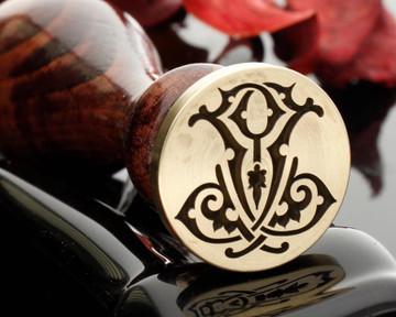Victorian Monogram Wax Seal JJ Design 3