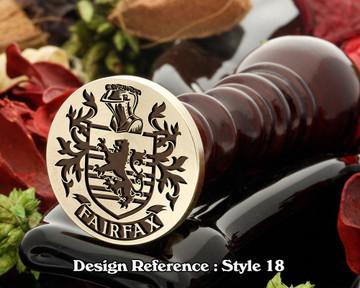 Fairfax Family Crest Wax Seal D18