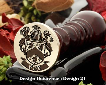 Fox Family Crest Wax Seal D21
