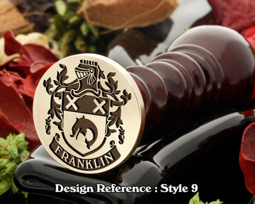 Franklin Family Crest Wax Seal D9