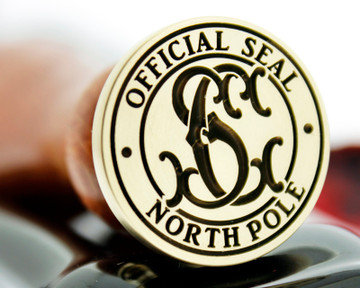 Wax Seal Christmas Official Seal NorthPole SC Monogram