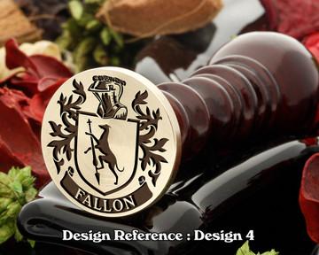 Fallon Family Crest Wax Seal D4