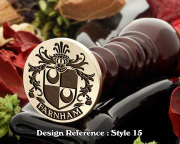 Farnham Family Crest Wax Seal D15