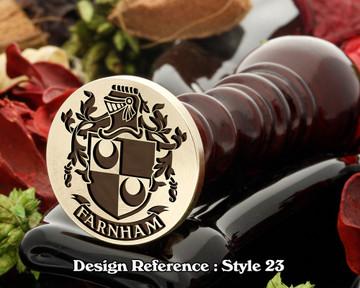 Farnham Family Crest Wax Seal D23
