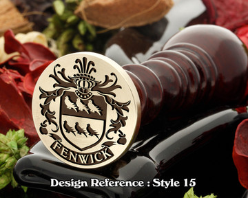 Fenwick Family Crest Wax Seal D15