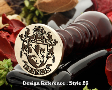 Francis Family Crest Wax Seal D23