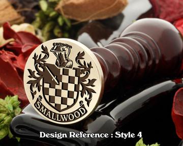 Smallwood Family Crest Wax Seal D4