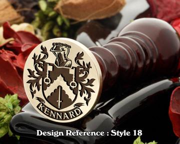 Kennard Family Crest Wax Seal D23