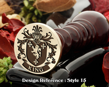 King Family Crest Wax Seal D15