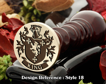 King Family Crest Wax Seal D18