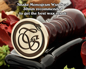 Snake Monogram Wax Seal including Initials example TS