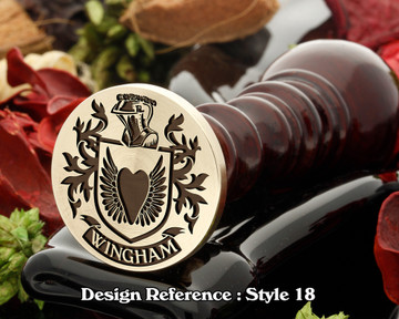 Wingham Family Crest Wax Seal D18