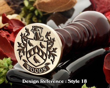 Woods Family Crest Wax Seal D18