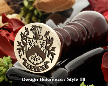 Yaxley Family Crest Wax Seal D18