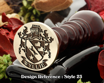 Wyllie Family Crest Wax Seal D23