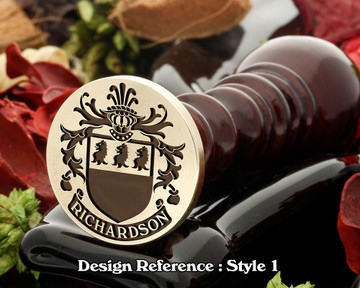 Richardson Family Crest Wax Seal D1