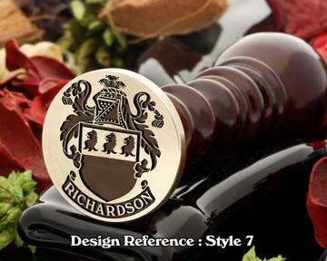 Richardson Family Crest Wax Seal D7