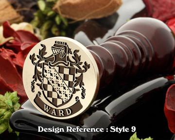 Ward Family Crest Wax Seal D9