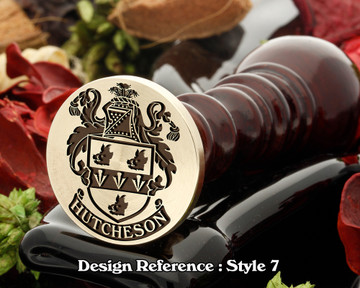 Hutcheson Family Crest Wax Seal D7