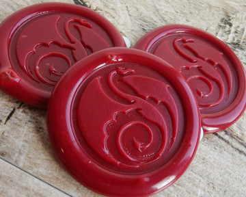 Dragon 27 Peel and Stick wax seal stickers Traditional Red