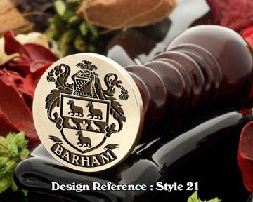 Barham Family Crest Wax Seal D21