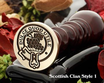 Strange Scottish Clan Wax Seal D1