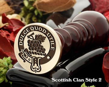Strange Scottish Clan Wax Seal D2