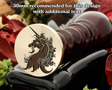 Heraldry Unicorn Head Erased Wax Seal