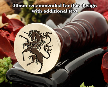 Heraldry Rampant Unicorn D3 Wax Seal