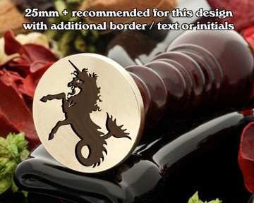 Heraldry Sea Unicorn D1 Wax Seal