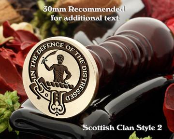 Allardice Scottish Clan Wax Seal D2
