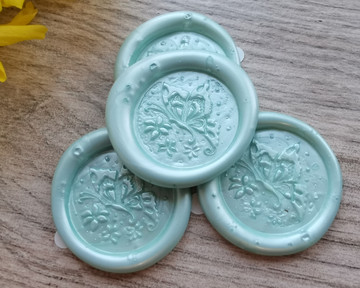 Butterfly Peel and Stick wax stickers - colour sample Cool Mint Green