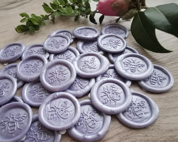 Pale Lilac Pearl peel and stick wax stickers
