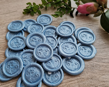 Blue 104 Mid pearl adhesive wax stickers