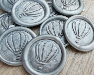 Silver Pearl for self adhesive wax seal stickers