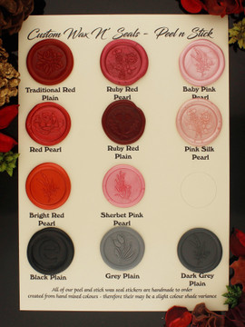 Peel n Stick Wax Seals Add-on  Wax Stamp Required