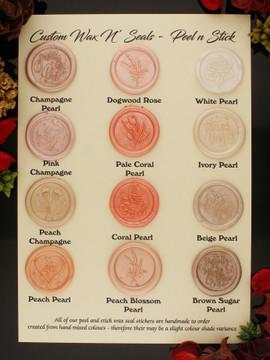 Monogram Foliage Adhesive Wax Seal Stickers