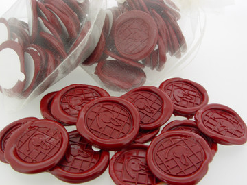 Traditional Red Wax Seal Stickers