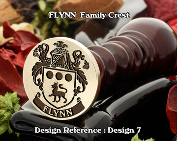 Flynn Family Crest Wax Seal D7