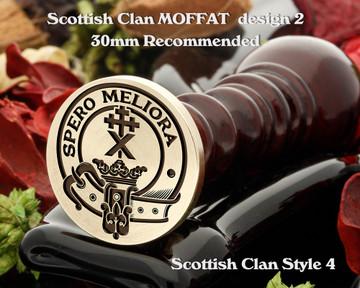 Moffat (2) Scottish Clan Wax Seal D4