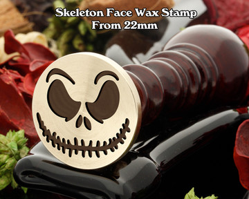Skeleton Face Wax Seal