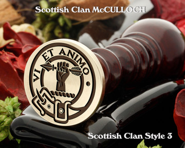 McCulloch Scottish Clan Wax Seal D3