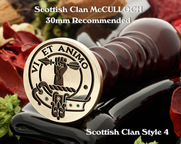 McCulloch Scottish Clan Wax Seal D4