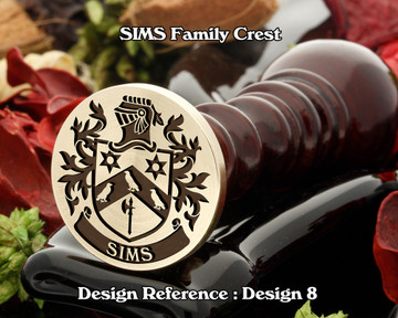 SIMS Family Crest Wax Seal D8