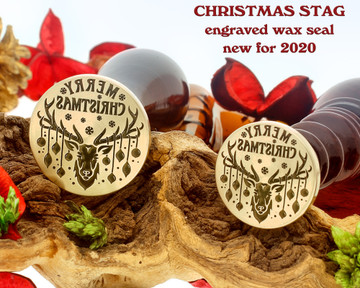 Christmas Reindeer 2020 Laser Engraved Wax Seal