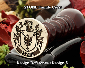 Stone Family Crest Wax Seal D6