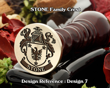 Stone Family Crest Wax Seal D7